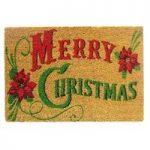 Traditional Merry Christmas Coir Doormat by Gardman
