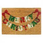 Merry Christmas Swag Coir Doormat by Gardman
