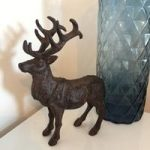 Decorative Cast Iron Stag Ornament Statuette by Fallen Fruits