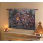 Horse & Sleigh Christmas Tapestry With LED Lights by Premier