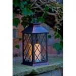 Lattice Battery Operated Candle Lantern by Smart Solar