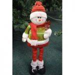 100cm Extendable Leg Snowman by Kingfisher