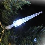 80 Bright White Multi Action Christmas LED Icicle Xmas Lights by Kingfisher