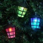 40 LED Multi-Coloured Lantern String Lights (Mains) by Kingfisher