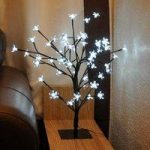 80cm White Blossom Bonsai Tree Light 96 LED (Mains) by Kingfisher