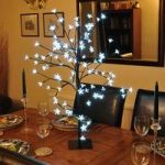 150cm White Blossom Bonsai Tree Light 200 LED (Mains) by Kingfisher