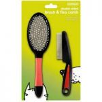 Double Sided Pet Brush & Flea Comb Double Pack by Gardman