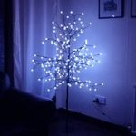152cm Blue Berry Light Tree 200 LED (Mains) by Kingfisher