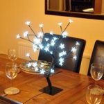 48cm White Blossom Bonsai Tree Light 48 LED (Mains) by Kingfisher