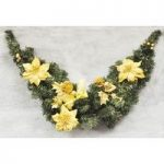 3ft (90cm) Decorative Christmas Swag / Garland In Gold