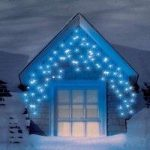 240 LED Blue Multi Function Snowing Icicle Lights (Mains) by Snowtime