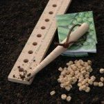 Wooden Seed and Plant Spacing Ruler by Burgon & Ball