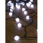 50 LED White Ball String Lights (Battery) by Smart Garden