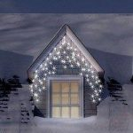 180 Multi Function Ice White LED Icicle Christmas Lights