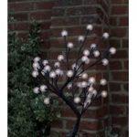 90cm White Dahlia Light Tree 60 LED (Battery) by Smart Garden