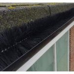 Set of 2 Black Gutter Brush Leaf Guard (4m) by Selections
