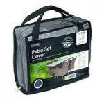 4 Seater Rectangular Patio Set Cover (Premium) in Grey by Gardman