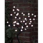 45cm White Cotton Ball Tree 40 LED (Battery) by Smart Garden