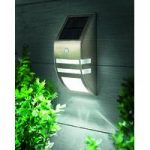Solar Powered Motion Sensor LED Wall Light by Gardman