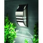 Solar Powered Motion Sensor Black Nickel LED Wall Light by Gardman