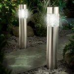 Solar Powered Motion Sensor Bollard Light (Pack of 2) by Gardman
