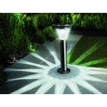 Solar Powered Motion Sensor Security Post Light by Gardman