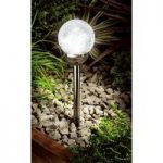 Ice Orb Light (Solar) in Black Nickel by Gardman