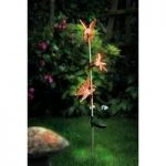 Triple Crystal Butterfly Glowlights Stake (Solar) by Gardman
