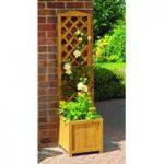 Wooden Trellis Garden Planters (Set of 2) by Gardman