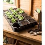 Plastic Potting Tray with 18 Plant Pots (9cm) by Gardman