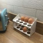 Tala Egg Storage Rack Cream Enamel Metal by George East