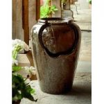 Ceramic Vase Outdoor Water Feature (Mains) by Gardman