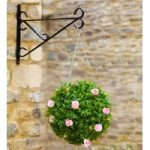 Artificial Rose Flower and Leaf Effect Topiary Ball by Smart Garden