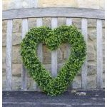 Buxus Leaf Effect Artificial Topiary Boxwood Hanging Heart by Smart Garden