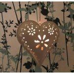 Florence Hanging Heart Shaped Tealight Holder by Gardman
