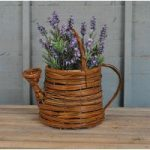 Wicker Watering Can Shaped Garden Planter by Westwoods