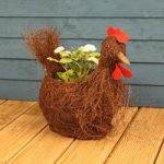 Ratan Rooster Shaped Garden Planter by Westwoods