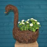 Rattan Swan Shaped Garden Planter by Westwoods