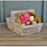 Wooden White Washed Seed Trug by Rustic Garden