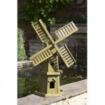 Wooden Windmill Garden Ornament by Smart Garden