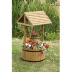 Extra Large Woodland Wishing Well Garden Planter by Smart Garden