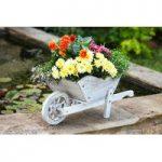 Whitewashed Woodland Wheelbarrow Garden Planter by Smart Garden