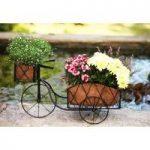 Metal Trike Shaped Garden Planter by Smart Garden
