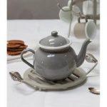 Enamel Tea Pot in Flint by Garden Trading