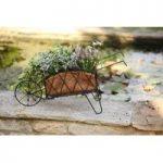 Metal Wheelbarrow Shaped Garden Planter by Smart Garden