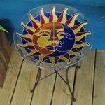 Glass Sun And Moon Bird Bath by Smart Garden