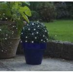 Boxwood Effect Artificial Topiary Ball with LED Lights (Battery) by Smart Garden