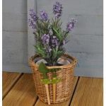 Wicker Flower Pot with Tools by Fallen Fruits
