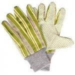 Garden Gloves with Green Stripes by Fallen Fruits