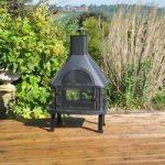 Log Burner Chiminea Barbecue by Kingfisher